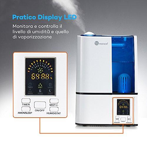 TaoTronics-Umidificatore-Ultrasuoni-e-Vaporizzatore-Professionale-4L-Grande-Capacit-Display-LED-a-Freddo-da-Casa-14-Ore-di-Durata-Modalit-di-Umidit-Costante-Regolatore-del-Livello-di-Vapore-Timer-Puri