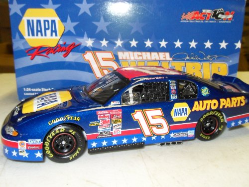 Michael Waltrip NAPA Stars & Stripes 2002 #15 Action Racing 1:24 Die-Cast Stock... by NASCAR