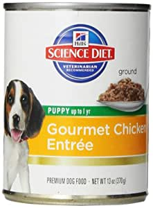 Hill's Science Diet Puppy Gourmet Chicken Entree Dog Food, 13-Ounce Can, 12-Pack