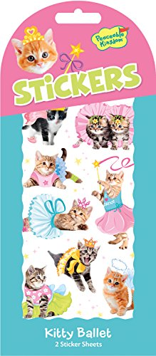 Peaceable Kingdom Kitty Ballet Sticker Pack