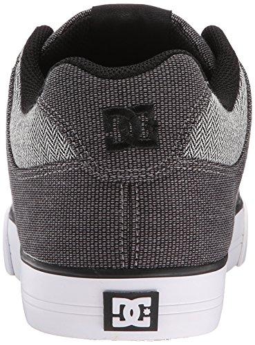 DC Men's Pure TX SE Skate Shoe, Grey/Grey/White, 7.5 M US