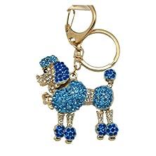 buy Blue Rhinestone Poodle Keychain