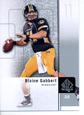 2011 SP Authentic Football Cards #98 Blaine Gabbert RC - Missouri Tigers (RC - Rookie Card) Jacksonville Jaguars (NFL Trading Card)