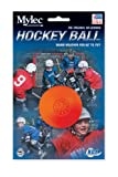 Mylec Warm Weather No Bounce Hockey Balls, Orange (Pack of 6)