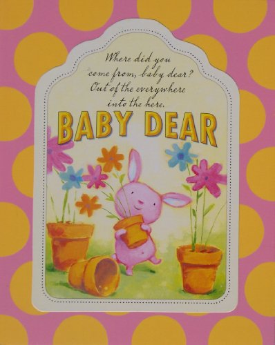 Baby Dear Wood Nursery Wall Art Plaque, PINK, 10x7.8x.7