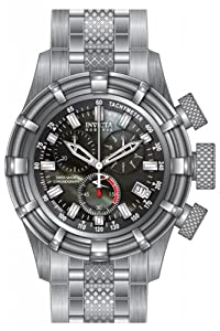 Invicta Bolt Chronograph Black Dial Stainless Steel Mens Watch 80690