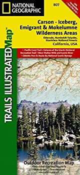 TI Map #807- Carson-Iceburg/Emigrant/Mokelumne Wilderness Areas