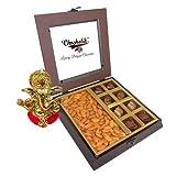 Chocholik Premium Gifts - Unique Combination Of Chocolates & Almonds With Ganesha Idol - Diwali Gifts