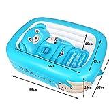 Global- reci�n nacido plegable suministra ba�eras neonatal piscina port�til para ni�os ba�era de beb� inflable de la piscina para ni�os ( Color : Azul )