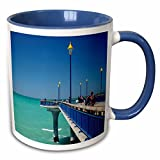Danita Delimont - Piers - Fishing, New Brighton Pier, Christchurch, New Zealand - AU02 DWA6794 - David Wall - 11oz Two-Tone Blue Mug (mug_133684_6)
