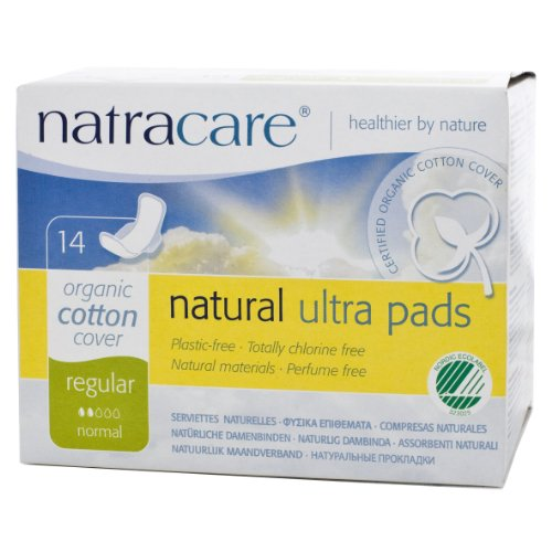 Natracare Natural Ultra Pads with Wings, Regular,  14 Count Boxes (Pack of 12) Reviews
