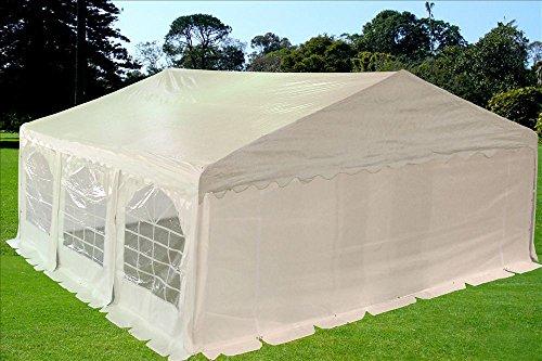 20'x20' Heavy Duty Wedding Party Tent Canopy Carport PE White