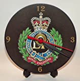 BRITISH ARMY ROYAL ENGINEERS REGIMENTAL INSIGNIA BADGE CREST * A CD/DVD (12 cm diameter) SIZED NOVELTY CD QUARTZ WALL CLOCK WITH FREE BATTERY AND DESK STAND * CAN BE PERSONALISED