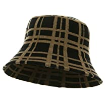 Plaid Bucket Hat-Black Khaki W15S42D