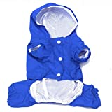 Urparcel Pet Dog Raincoat Apparel Puppy Waterproof Jacket Blue XS