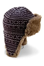 Fair Isle Trapper Hat with Wool [T09-1923-S]