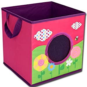 aufbewahrungsbox aufbewahrungskiste mit netzfenster wiese baby. Black Bedroom Furniture Sets. Home Design Ideas