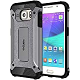 Galaxy S6 Case Cubix Rugged Armor Case For Samsung Galaxy S6 (Grey)