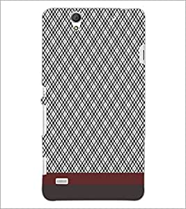 PrintDhaba Diamond pattern D-1811 Back Case Cover for SONY XPERIA C4 (Multi-Coloured)
