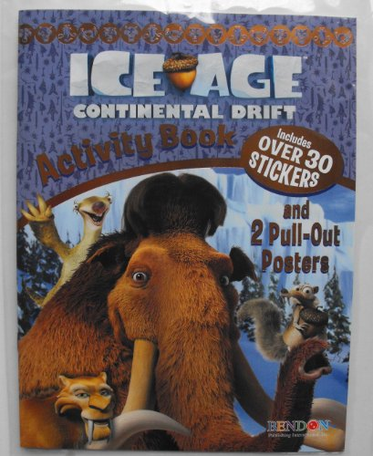 Ice Age Continental Drift 32 Page Activity Book. With 30 Stickers & 2 Pull-Out Posters. Heat Sealed In Copyrighted Labeled Sleeve.
