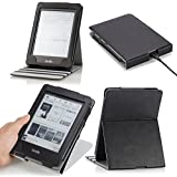 MoKo Vertical Flip Cover Case for Amazon New Kindle Paperwhite with Backlight, BLACK (with Auto Sleep/Wake Function)