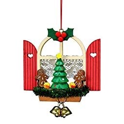 10-0569 - Christian Ulbricht Ornament - Window with Gingerbread - 3\