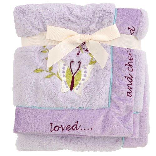 Koala Baby Plush Blanket - Lavendar Butterfly - 1