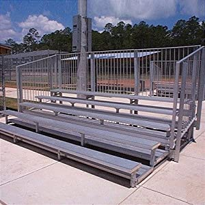 5 Row Angle Frame Bleachers Length 27 Feet 90 Seats from All Star Bleachers