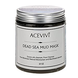 ACEVIVI Natural Dead Sea Mud Facial Mask - Facial Mask and Skin Care Treatment for Women, Men and Teens - Organic Mud Mask Offers Gentle Facial Exfoliator, Natural Moisturizer and Deep Cleansing to Restore Your Skin's Natural Radiance - This Renowned Anti