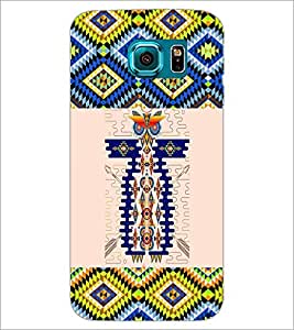 PrintDhaba Owl Pattern D-3000 Back Case Cover for SAMSUNG GALAXY S6 EDGE (Multi-Coloured)