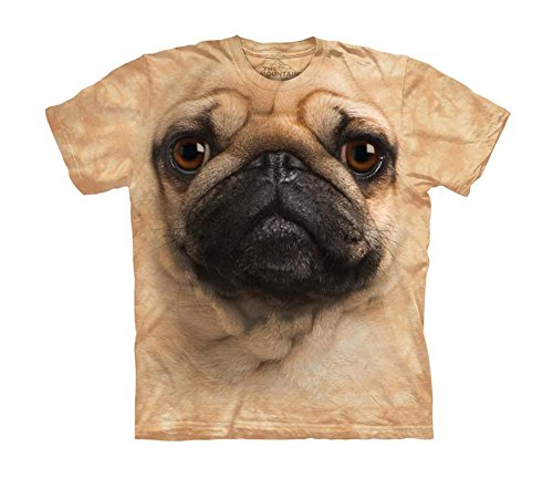 Pug Face Close Up Pet Dog Big Boys Youth T-Shirt Tee