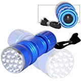 Neiko 40288 Super-Bright 21-LED Aluminum Flashlight, Cool Blue