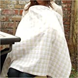 「チェック・ザ・パンダゴン ベージュ」 授乳ケープ 授乳カバー お出かけ時の授乳も安心 ナーシングカバー ナーシングケープ カラー:ベージュ