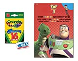 Red Toy Story 3 Coloring & Activity Book and 16 Crayola Crayons Box (Pack of 2)
