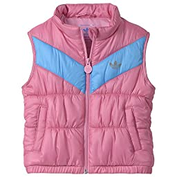 Adidas Baby Girl\'s Padded Vest, Pink/Solar Blue, 18 Months