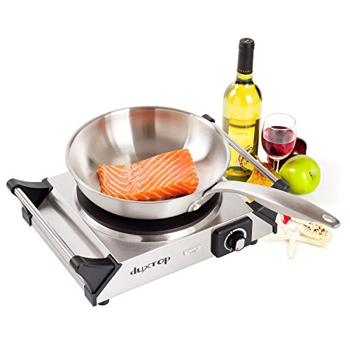 DUXTOP 1500W Portable Electric Cast Iron Cooktop Countertop Burner (Single) (Electric Cast Iron compare prices)