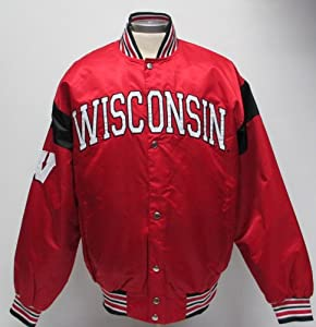 Satin Wisconsin Badgers Jacket
