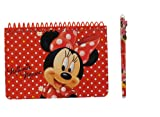 Disney Minnie Mouse Spiral Autograph Book Red and 1 Beatiful Pen