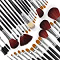 34 PCS MAKE UP MAKE-UP COSMETIC BRUSH IN CASE JUMBO SET