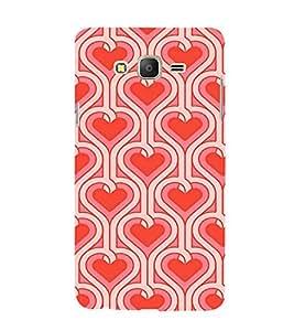 EPICCASE Pink Hearts Pattern Mobile Back Case Cover For Samsung Galaxy E5 (Designer Case)