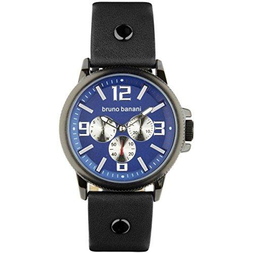 Bruno Banani Men's Watch Quartz Watch Dial Blue Trenos Leather Bracelet in Blue UBR30031