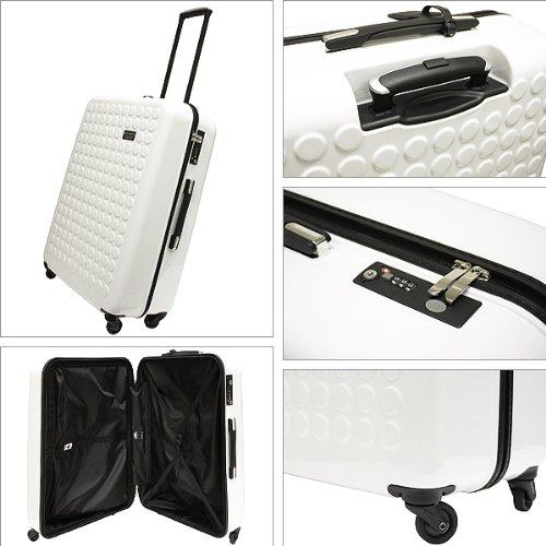 (ドットドロップス)DotDrops DotDrops キャリーケース 12326PCK アートモデル ARTMODEL 4 wheels upright 28 100L 4輪 スーツケース ホワイト White[並行輸入品]