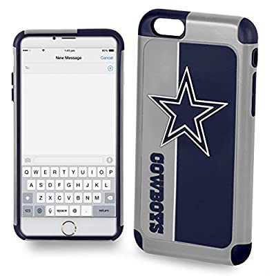 Forever Collectibles IPHNNFEXTPU6LDC Dual Hybrid Bold Series Case for iPhone 6 Plus/6S Plus,NFL Dallas Cowboys