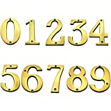BOLTON 4 Inch Solid Brass House Numbers Available 0-9 Price Is For EACH Number. Please Send Us An Email To Let Us Know What Numbers You Need