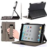 i-Blason Apple iPad mini Case with Stylus Loop and Bonus Stylus (Black)