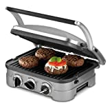 Cuisinart GR-4 Griddler Stainless-Steel 4-in-1 Grill/Griddle and Panini Press