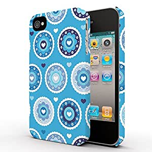Koveru Designer Printed Protective Snap-On Durable Plastic Back Shell Case Cover for Apple iPhone 4 , iPhone 4S - Floral in Brown Color