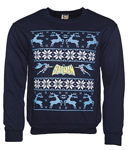Batman/Reindeer Fair Isle Christmas Sweater
