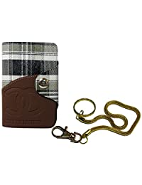 Apki Needs Long Tan Mens Wallet & Beautiful Beautiful Golden Chain Keychain Combo