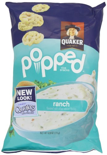 Quaker, Quakes Rice Snacks, Ranch, 6.06 oz. (Pack of 4)